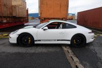 Porsche 991R in the harbor for export